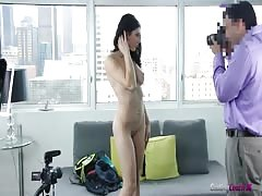 Outstanding young slut is getting naked in the video by Casting Couch X Thumb