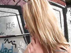 Sensual coed is being fucked from behind for the money Thumb