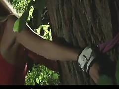 Very hot blonde teen bound and fucked in the forest Thumb