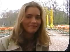 Pretty girl is talked into fucking outdoors for money Thumb