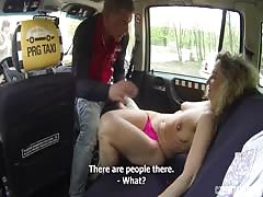 Sweet slut getting into hot sex with driver at the backseat Thumb