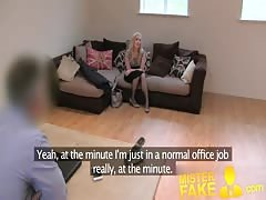 MisterFake Sweet blonde desperate to get back into porn Thumb
