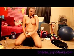Webcam show, hitachi, baby oil, oh my Thumb