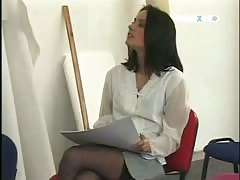 Cute brunette teen gets cock in asshole after casting in office room Thumb