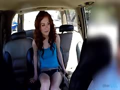 Kinky teen with innocent face slowly undress at the backseat Thumb
