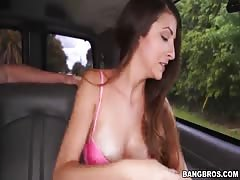 Horny amateur slut is banging for money in the video by Bangbus Thumb