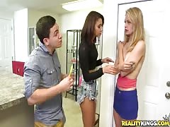 Sweet sex with two cheap girls by Money Talks video Thumb