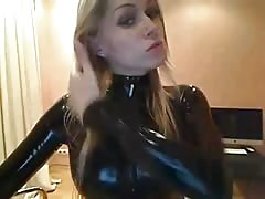 Mili Latex catsuit shiny and tight Thumb