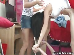 Sexy young and flexible college girls are learning how to blow Thumb