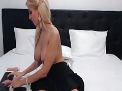 Amateur Blonde Teen Plays Solo with Toy in Webcam Thumb