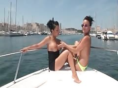 Joyce and Swann fucked on a boat Thumb