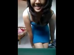 indonesia- indo girl stripping and masturbating for her bf Thumb
