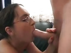 Nerdy girl with glasses anal gangbang Thumb