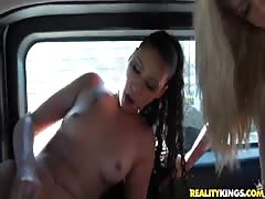 Slender teenagers are fucking in the van for pleasure Thumb