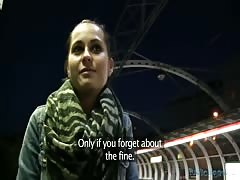Another slender girl is being seduced for the money Thumb