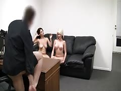 Stunning threesome at the casting with the hottest girls Thumb