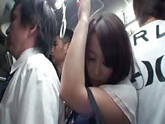 Reckless Asian hottie likes to get her cunt touched in public places Thumb