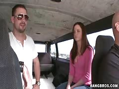 Awesome mommy is taking horny rod in the Bangbus video Thumb
